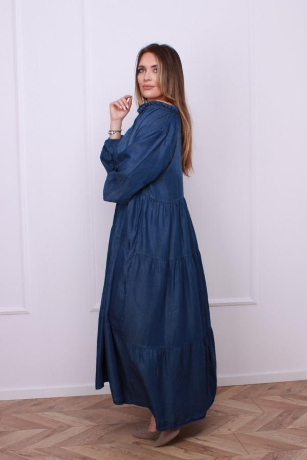 Sukienka jeansowa maxi 1