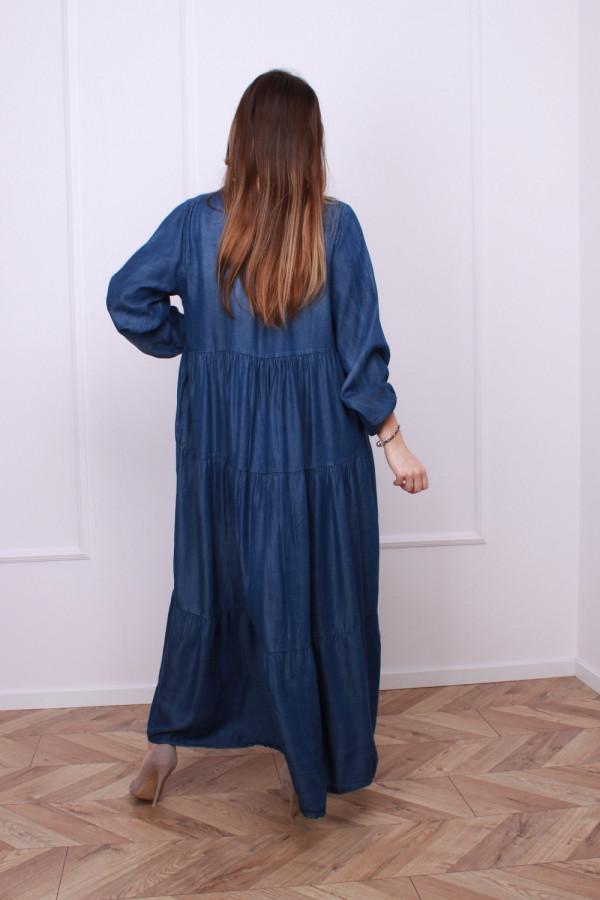Sukienka jeansowa maxi 2