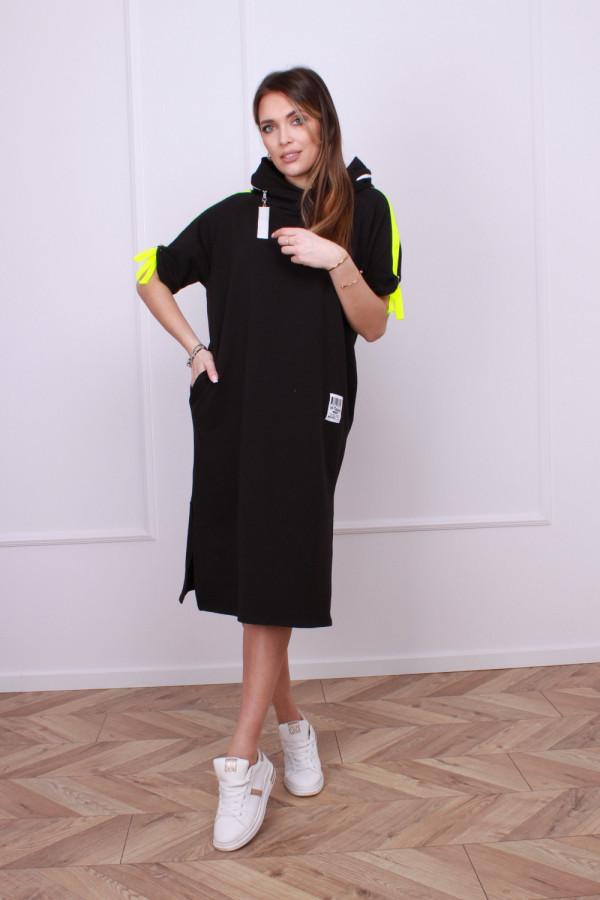 Sukienka z neonowym lampasem 1