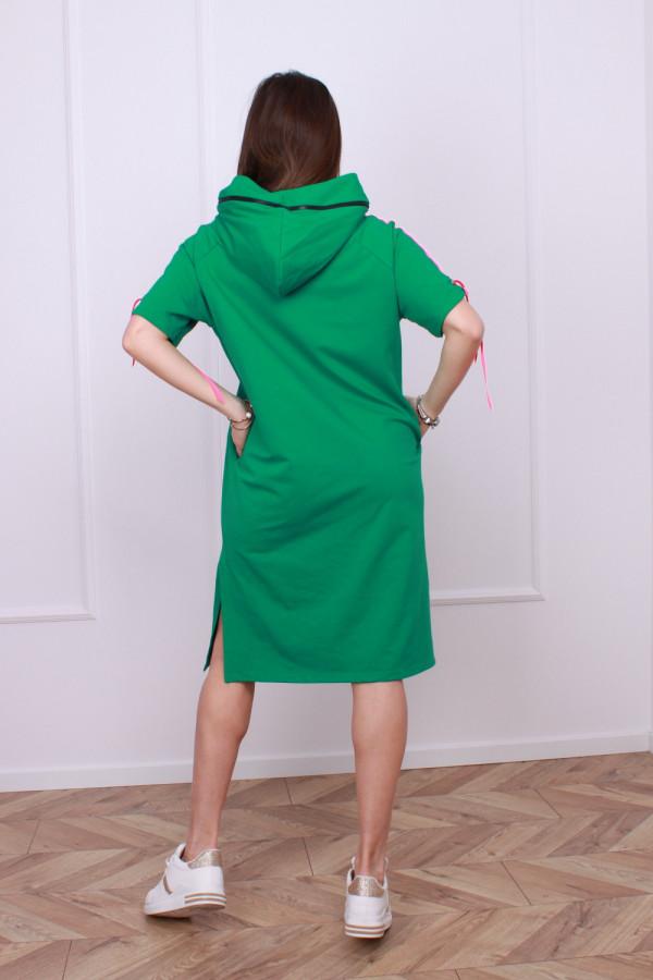 Sukienka z neonowym lampasem 5