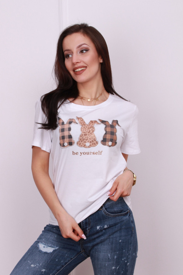 T-shirt z króliczkami