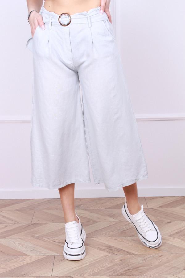 Spodnie lniane z paskiem 3