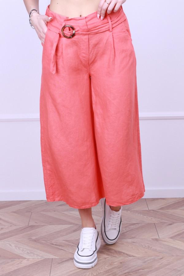 Spodnie lniane z paskiem 4