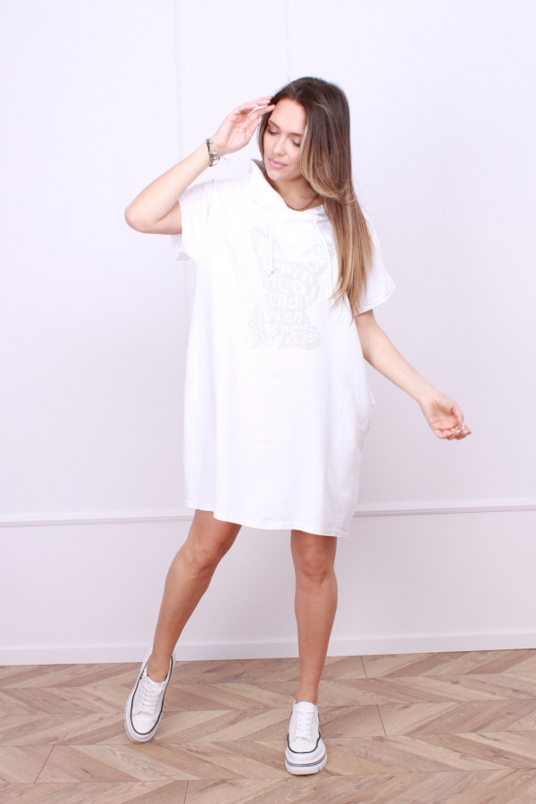 Sukienka lniana z królikiem 3