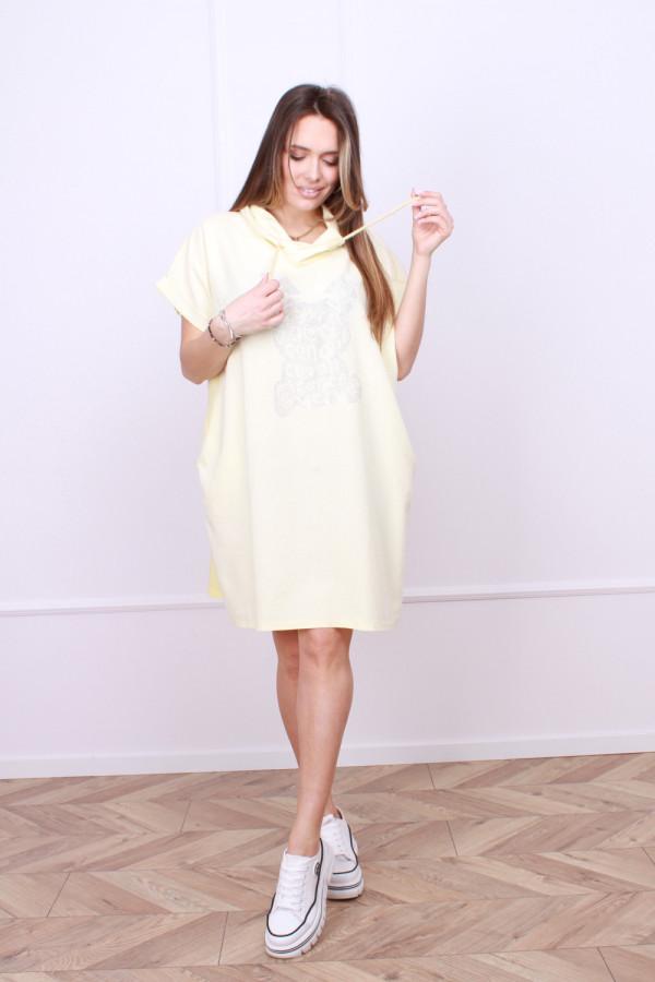Sukienka lniana z królikiem 5