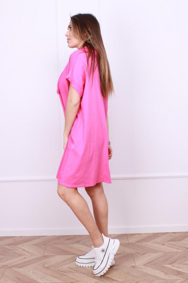 Sukienka lniana z zającem 1