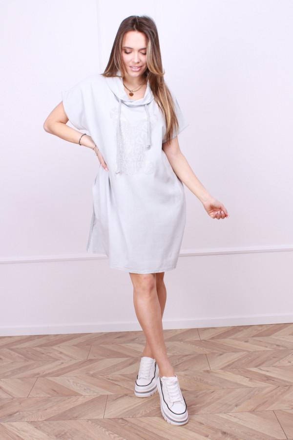 Sukienka lniana z zającem 4