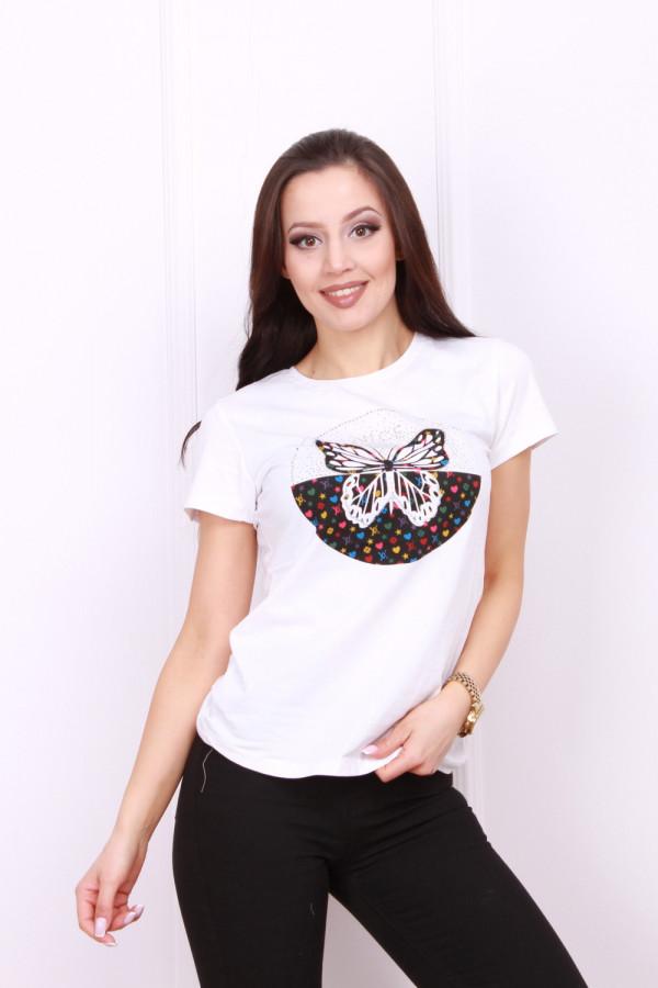 T-shirt z motylem