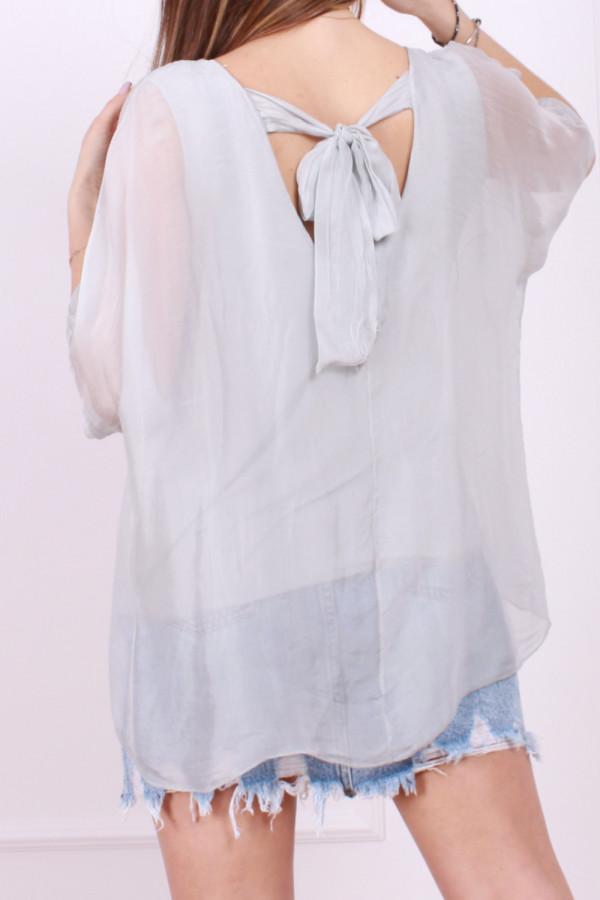 Jedwabna bluzka z kokardą 2