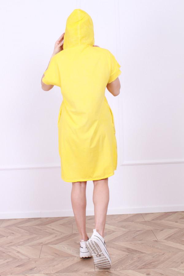 Sukienka lniana z kapturem 2