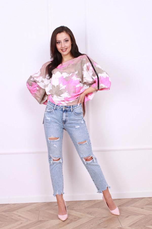 Spodnie jeansowe z przetarciami Alicja