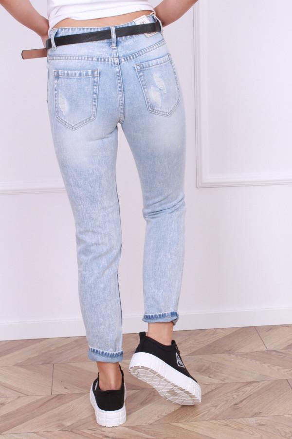 Spodnie z przetarciami jeansowe 2