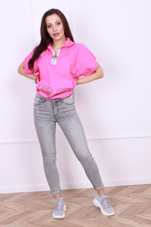 Spodnie jeansowe szare