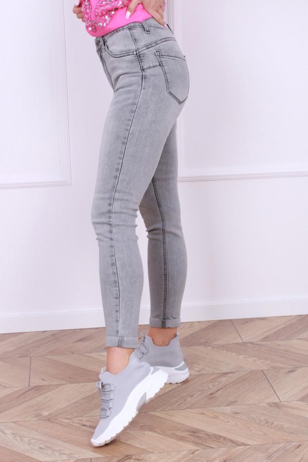 Spodnie jeansowe szare 1
