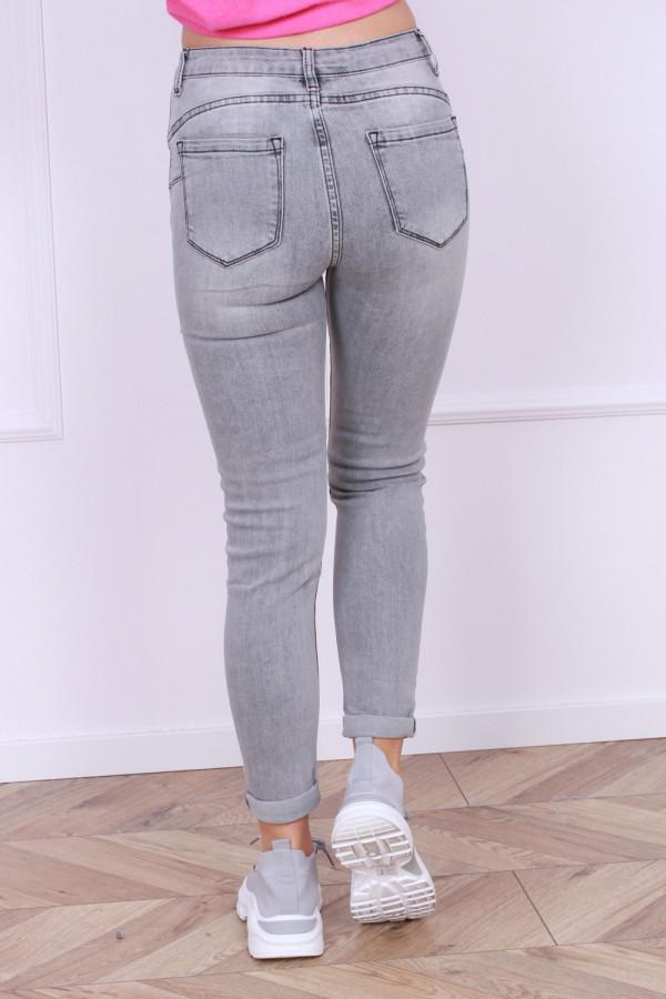Spodnie jeansowe szare 2