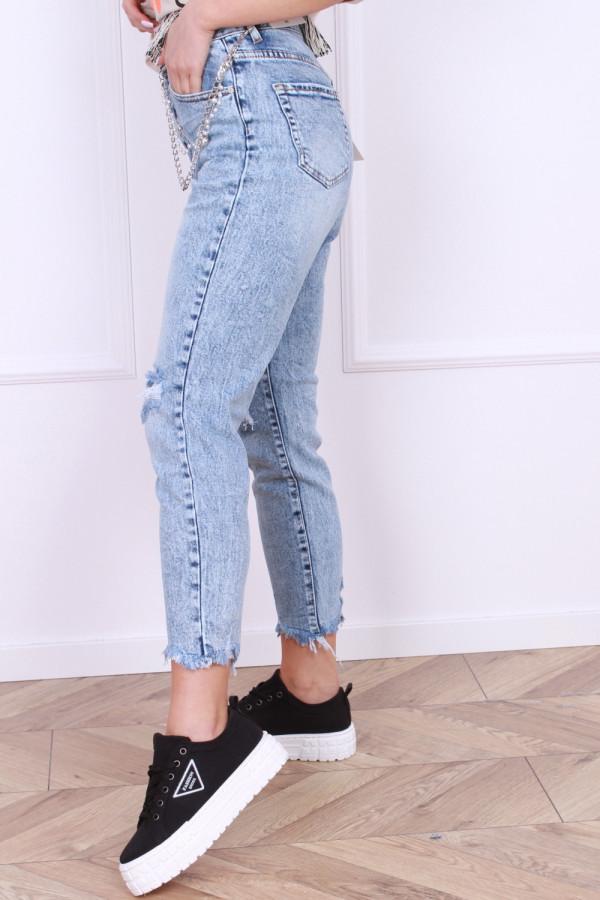 Spodnie jeansowe z łańcuszkiem 1