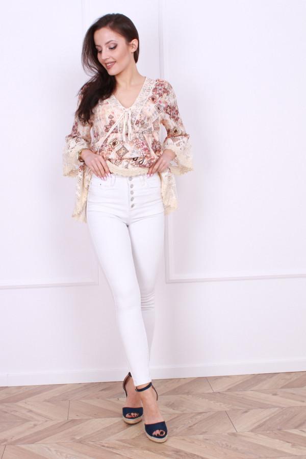 Spodnie jeansowe białe