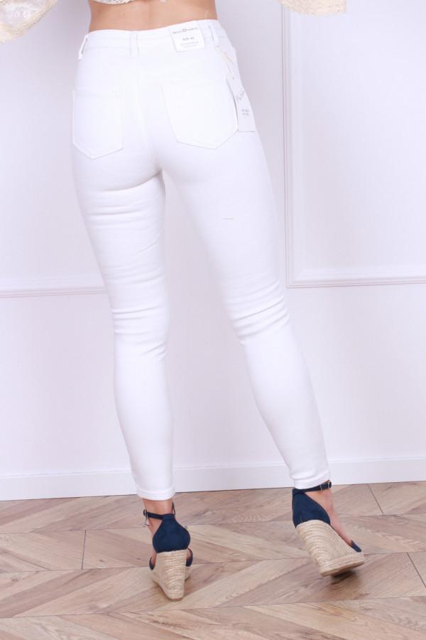 Spodnie jeansowe białe 2