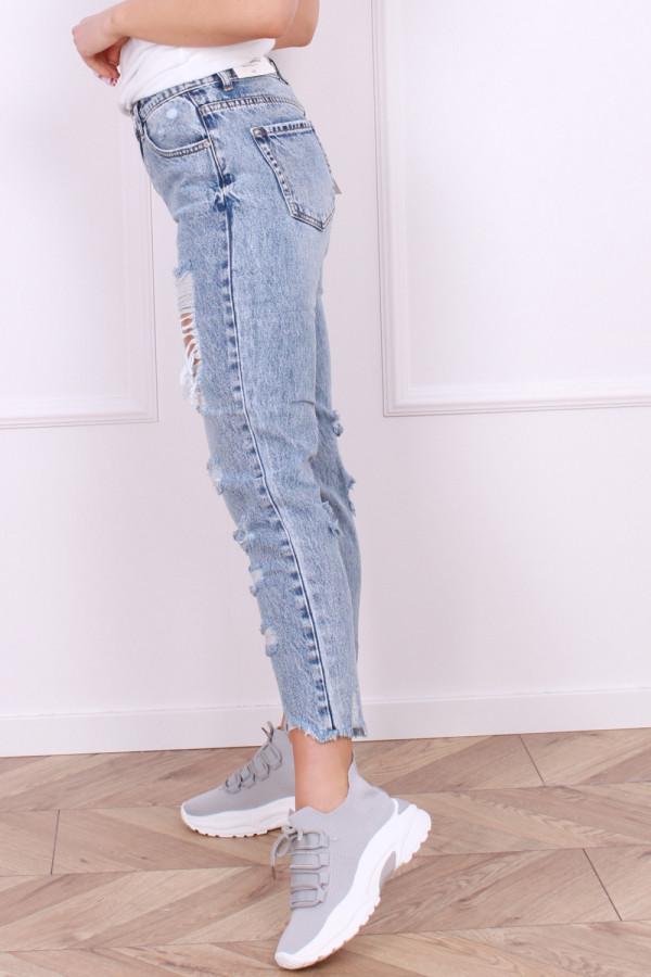 Spodnie jeansowe z przetarciami Emi 1