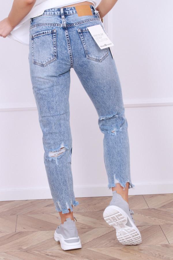 Spodnie jeansowe z przetarciami Emi 2