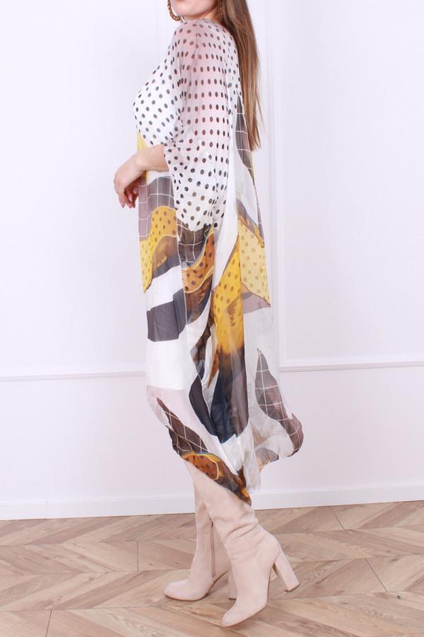 Sukienka jedwabna grochy 1
