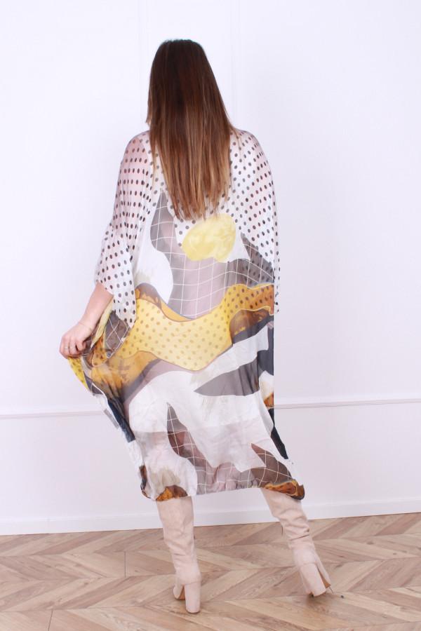 Sukienka jedwabna grochy 2