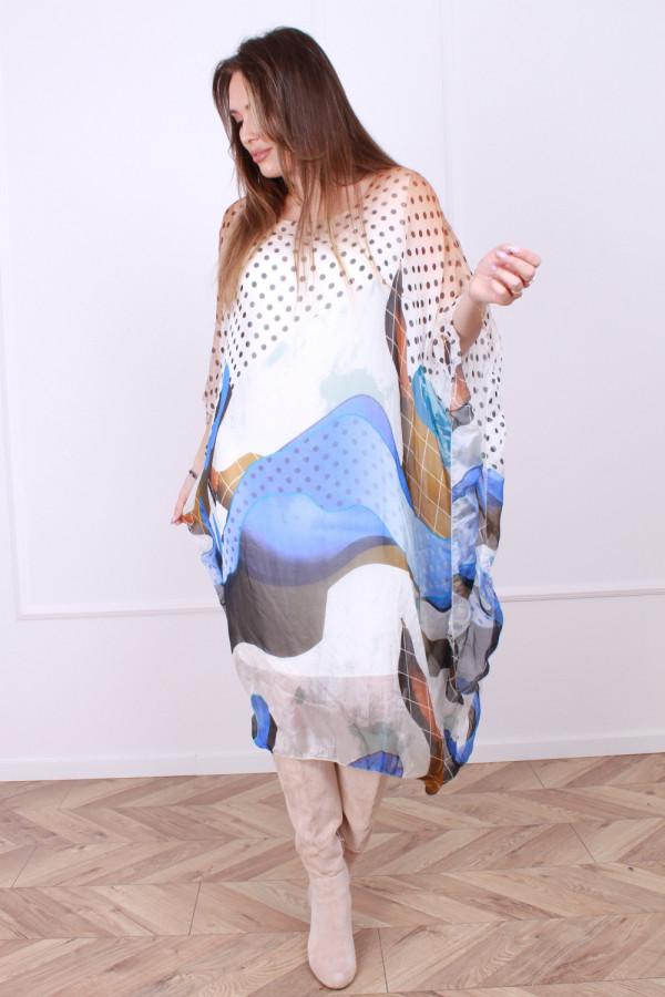 Sukienka jedwabna grochy 5