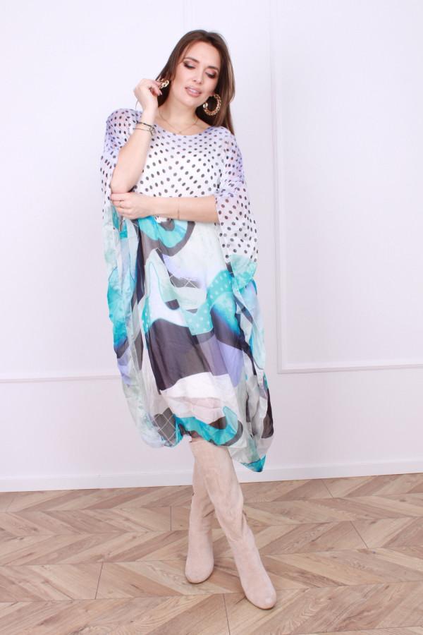 Sukienka jedwabna grochy 6