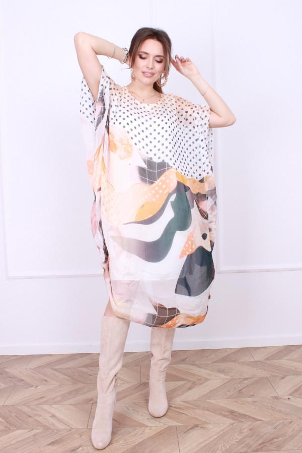Sukienka jedwabna grochy 7