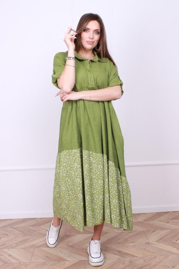 Sukienka lniana Flower 8