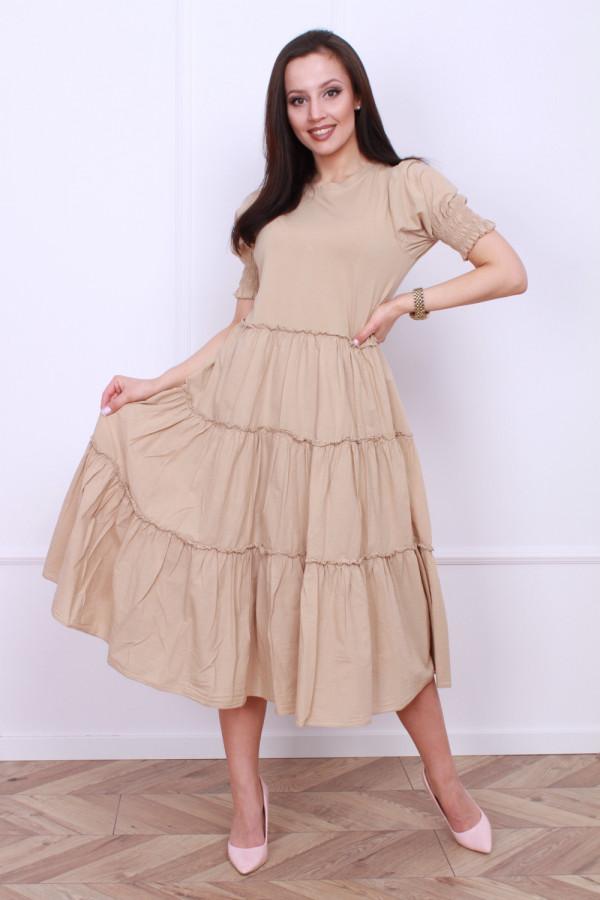 Falbowana sukienka