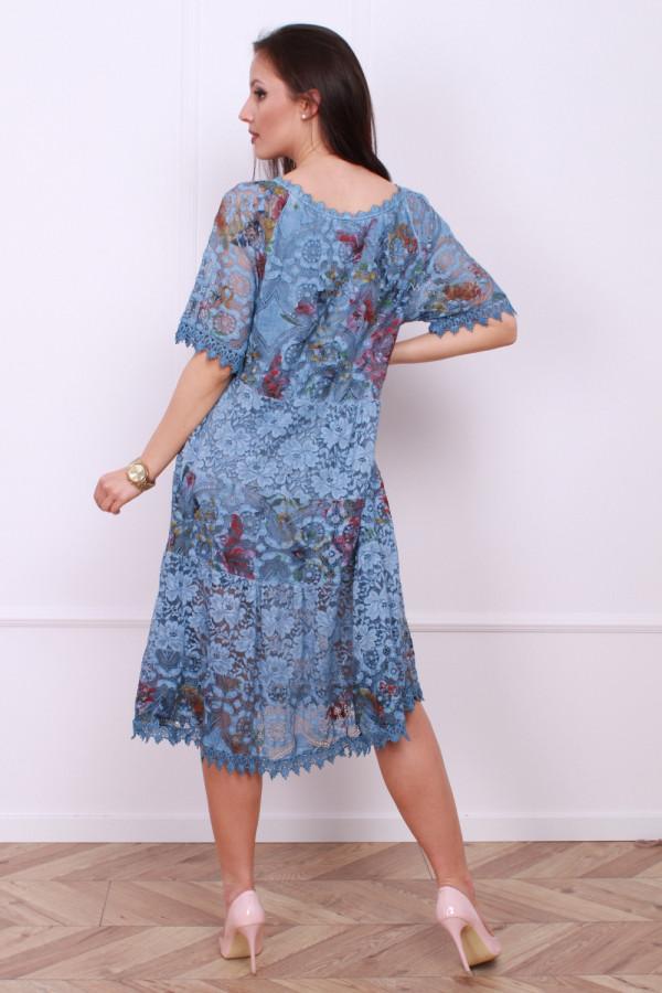 Sukienka wzorzysta w kwiaty 2