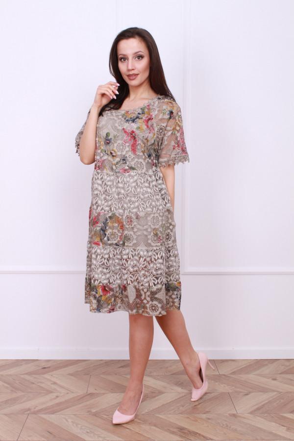 Sukienka wzorzysta w kwiaty 3