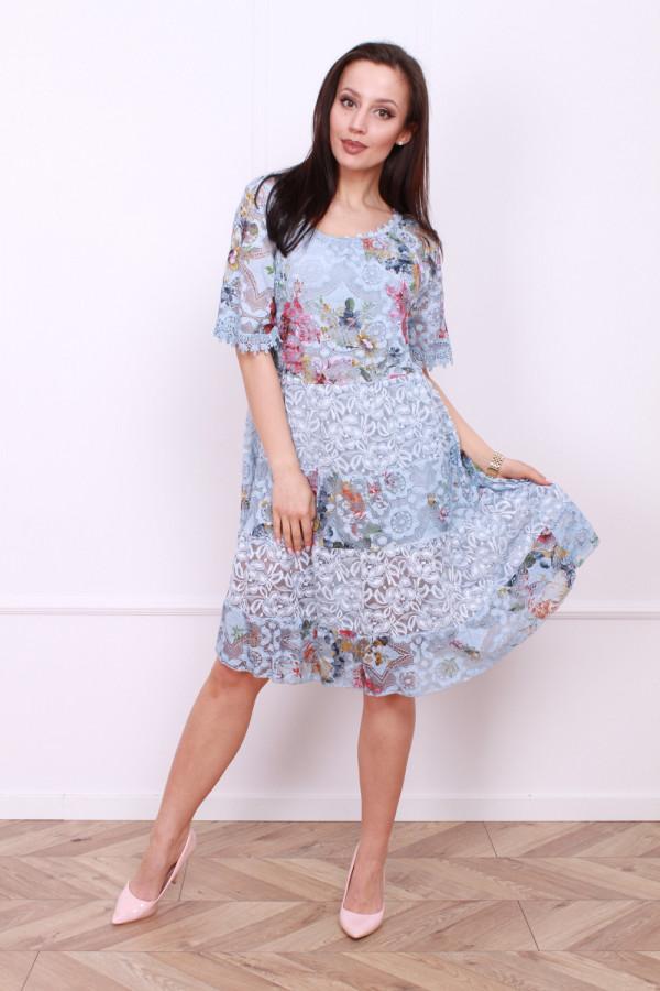 Sukienka wzorzysta w kwiaty 4