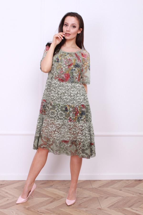 Sukienka wzorzysta w kwiaty 5