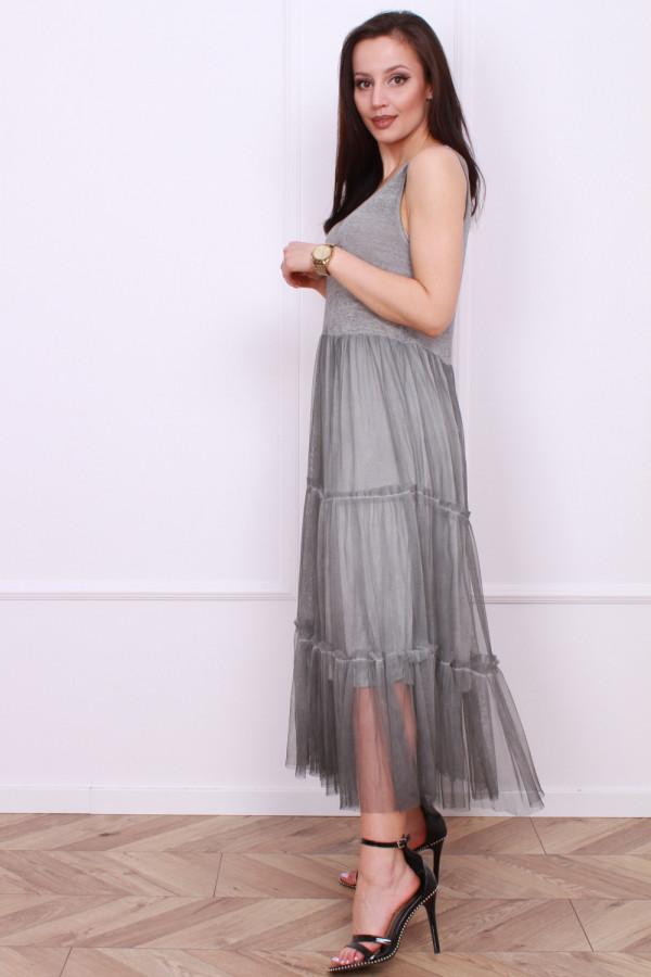 Długa sukienka z tiulem 1