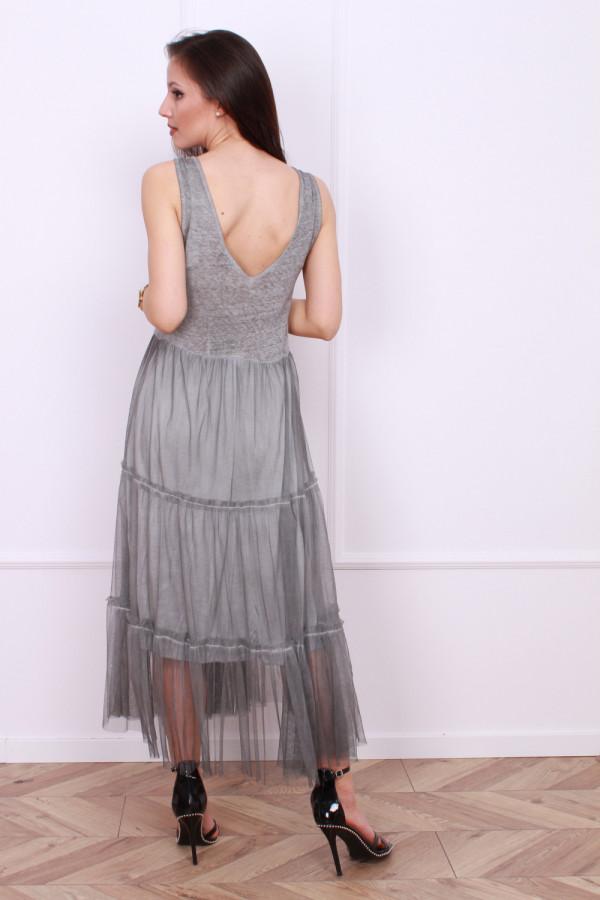 Długa sukienka z tiulem 2