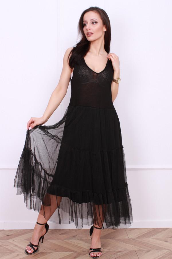 Długa sukienka z tiulem 3