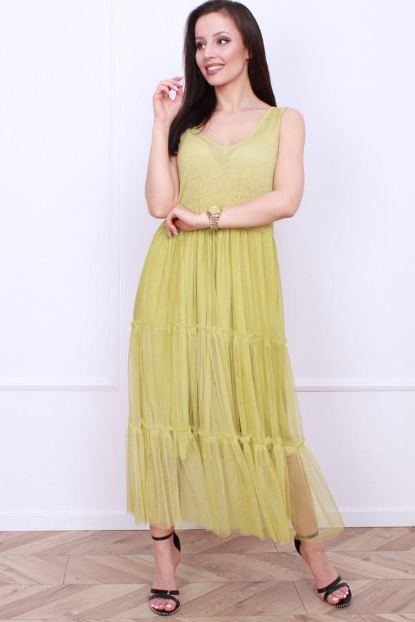 Długa sukienka z tiulem 5