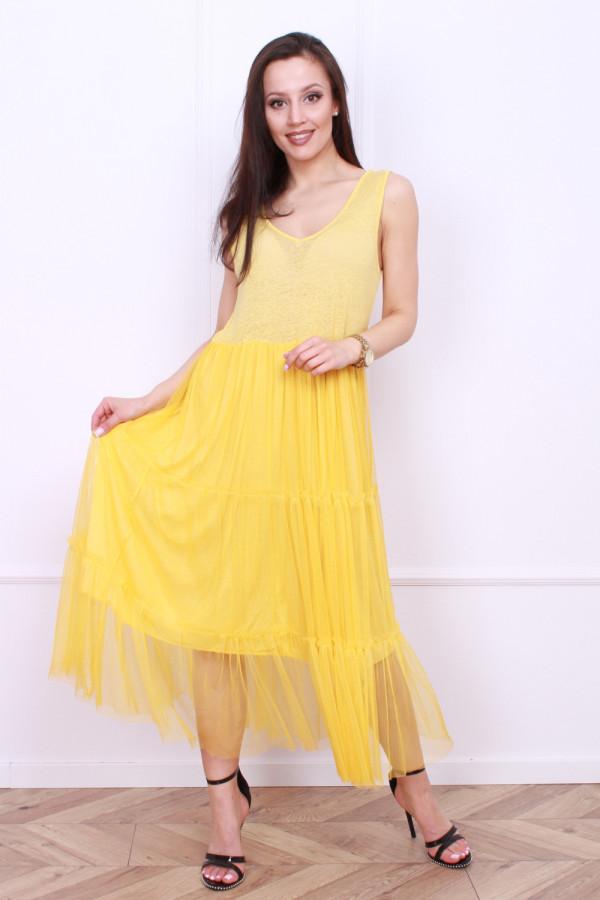 Długa sukienka z tiulem 6