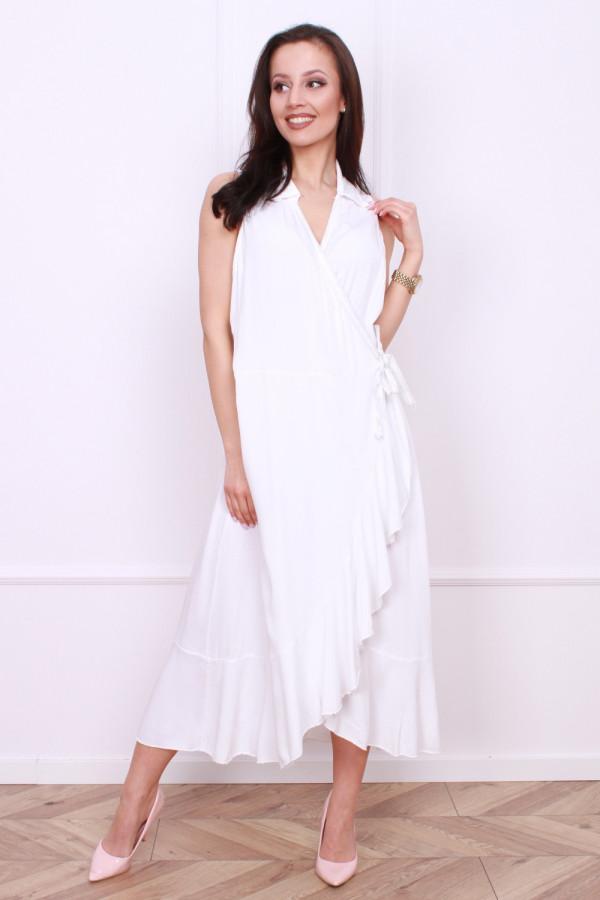 Wiązana długa sukienka 3
