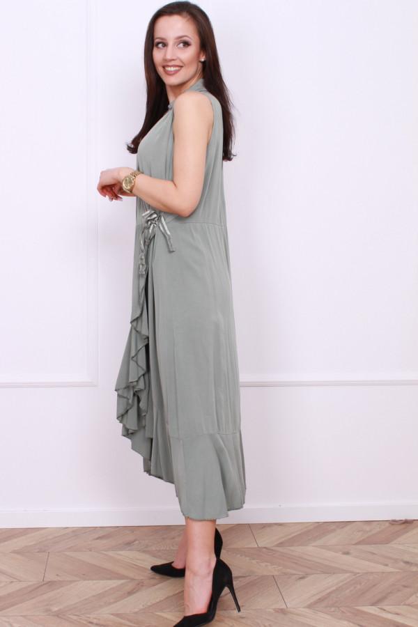 Wiązana długa sukienka 1