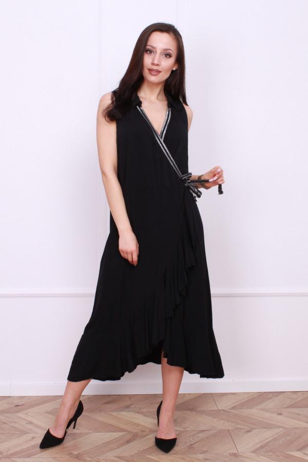 Wiązana długa sukienka 4