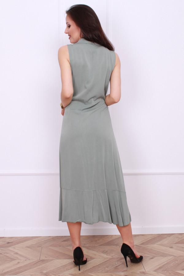 Wiązana długa sukienka 2
