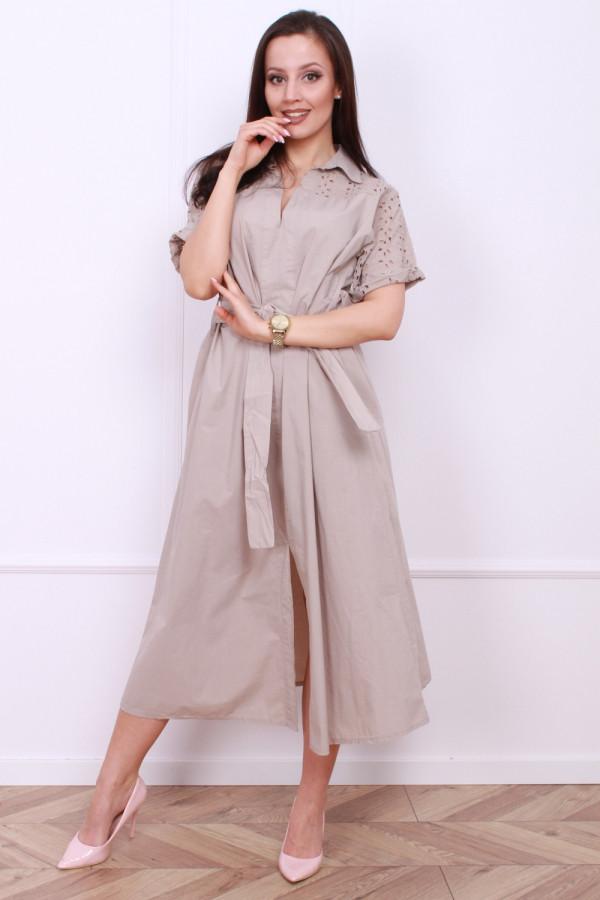 Długa sukienka z paskiem 3