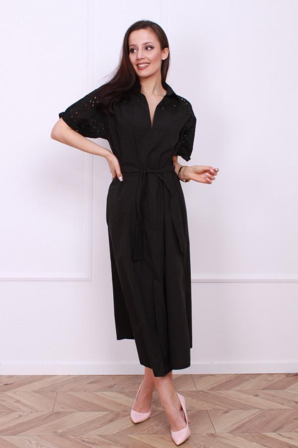 Długa sukienka z paskiem 4