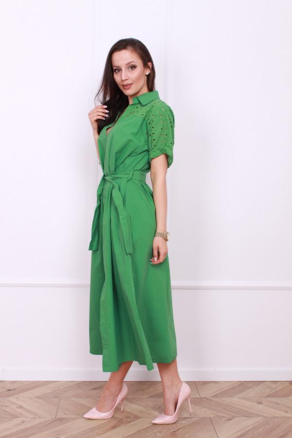 Długa sukienka z paskiem 1