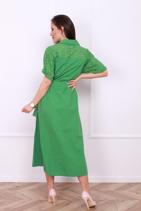 Długa sukienka z paskiem 2