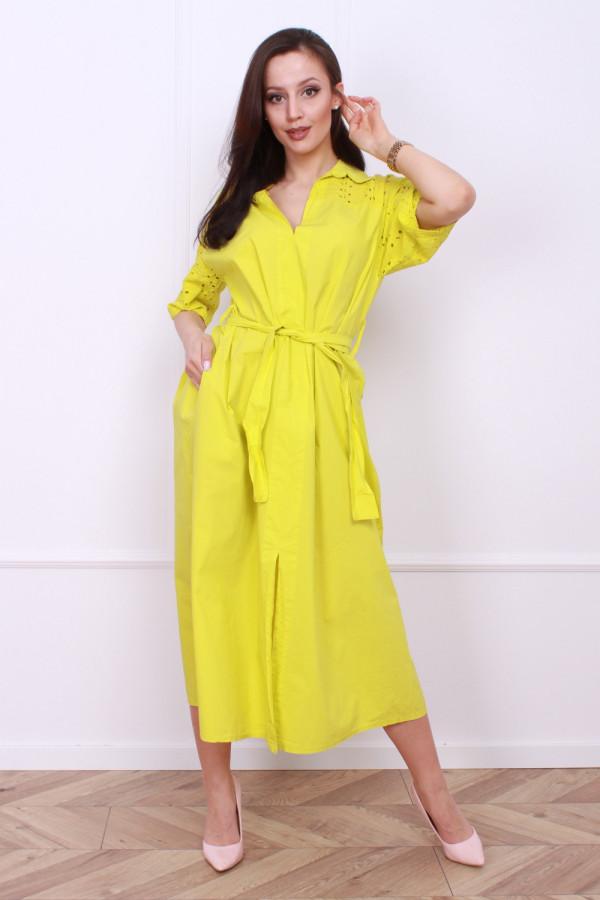 Długa sukienka z paskiem 8