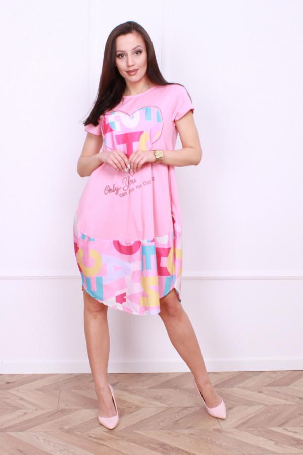 Sukienka z nadrukami